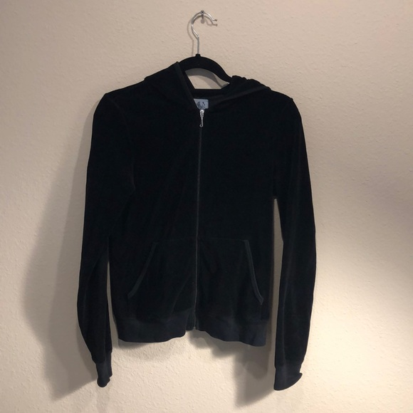 Juicy Couture Jackets & Blazers - Juicy Couture Black Velour Jacket (XL)